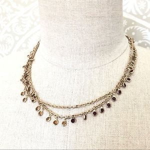 BANANA REPUBLIC gold ombré long chain necklace NWT